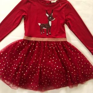 🎄 Christmas Red Tutu Dress size 8  🎄